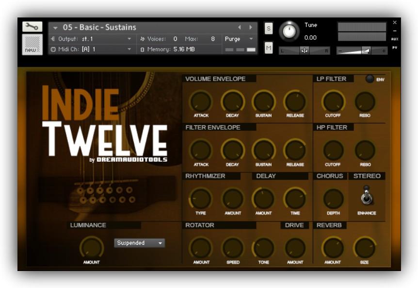 INDIE TWELVE - 12 STRINGS GUITAR